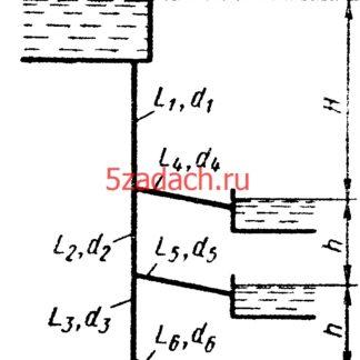 Определить расход Q1, который подается Решение задач по гидравлике Гидравлика Куколевский куколевского