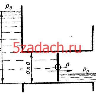 Слева от квадратного дроссельного затвора Решение задач по гидравлике Гидравлика Куколевский куколевского