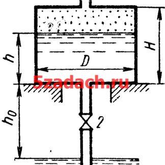 К замкнутому цилиндрическому сосуду диаметром Решение задач по гидравлике Гидравлика Куколевский куколевского