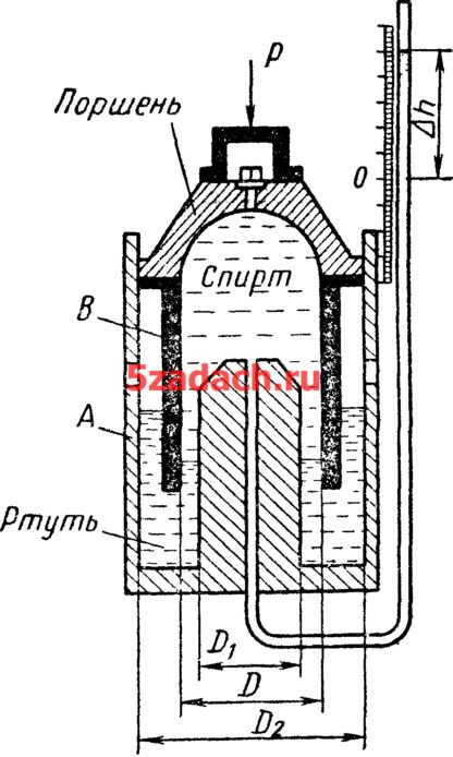 Для измерения малых сил используется жидкостный динамометр Решение задач по гидравлике Гидравлика Куколевский куколевского
