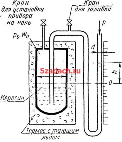 Для определения перепада давления по длине участка