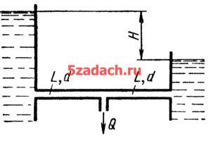 Трубопровод диаметром d = 125 мм и общей длиной Решение задач по гидравлике Гидравлика Куколевский куколевского