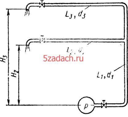 Найти как распределится расход Решение задач по гидравлике Гидравлика Куколевский куколевского