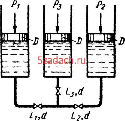 Три одинаковых цилиндра диаметрами Решение задач по гидравлике Гидравлика Куколевский куколевского