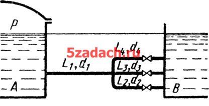 Резервуары A и B с постоянными и одинаковыми Решение задач по гидравлике Гидравлика Куколевский куколевского