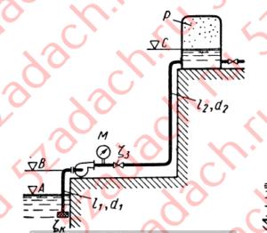 Центробежный насос, расположенный Решение задач по гидравлике Гидравлика Куколевский куколевского