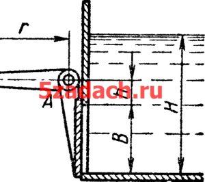 Квадратное отверстие размером Решение задач по гидравлике Гидравлика Куколевский куколевского