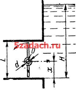 Прямоугольный поворотный затвор размером Решение задач по гидравлике Гидравлика Куколевский куколевского