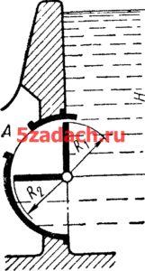 Угловой поворотный затвор перекрывает Решение задач по гидравлике Гидравлика Куколевский куколевского