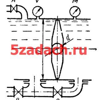 На трубопроводе установлен дисковый затвор диаметром