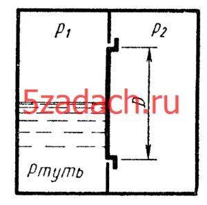 Отверстие в перегородке замкнутого сосуда закрыто круглой крышкой диаметром