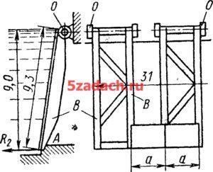 Стоечно-плоский затвор размером Решение задач по гидравлике Гидравлика Куколевский куколевского