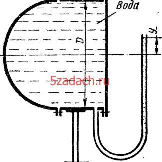 Определить величину и направления сил давления воды на плоское и полусферическое днища