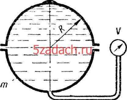 Шаровой сосуд радиусом R = 0,4 м, заполненный Решение задач по гидравлике Гидравлика Куколевский куколевского