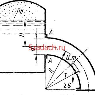 Определить отрывающее и сдвигающее усилия Решение задач по гидравлике Гидравлика Куколевский куколевского