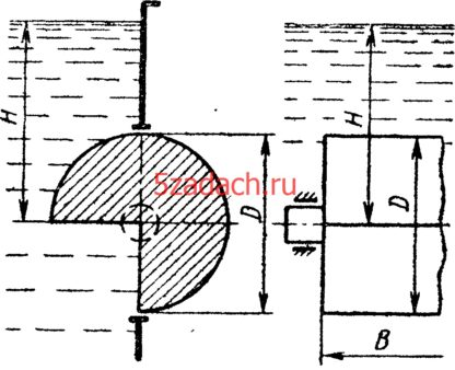 В прямоугольном окне вертикальной стенки резервуара установлен на цапфах