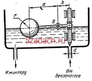 Бензин (б = 0,7) под давлением р = 30 кПа подводится Решение задач по гидравлике Гидравлика Куколевский куколевского