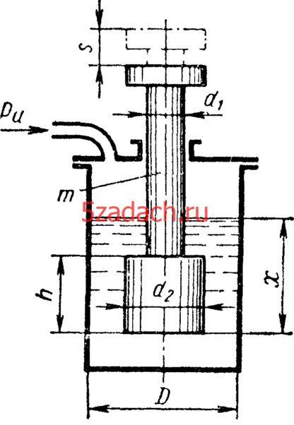 Ступенчатый шток размерами Решение задач по гидравлике Гидравлика Куколевский куколевского