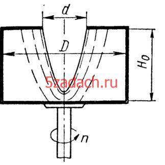 Цилиндрический сосуд с закраиной Решение задач по гидравлике Гидравлика Куколевский куколевского