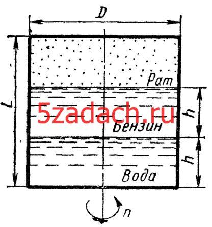 Замкнутый цилиндрический сосуд размерами Решение задач по гидравлике Гидравлика Куколевский куколевского
