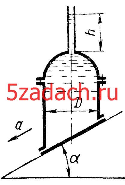 Вычислить величины горизонтальной и вертикальной сил давления на полусферическую крышку