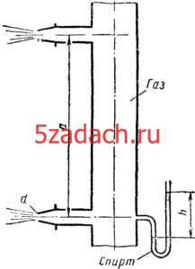 Газ заполняющий вертикальную трубу Решение задач по гидравлике Гидравлика Куколевский куколевского