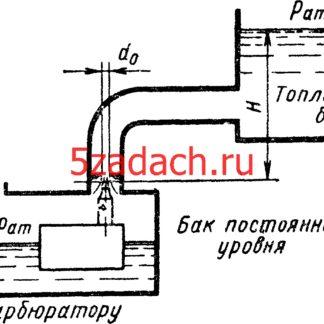 Бензин из топливного бака перетекает в находящийся перед Решение задач по гидравлике Гидравлика Куколевский куколевского