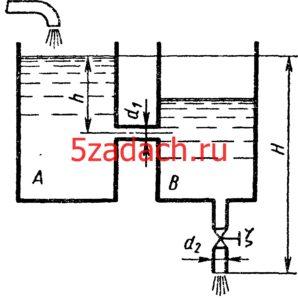 Из бака A, в котором поддерживается постоянный уровеньРешение задач по гидравлике Гидравлика Куколевский куколевского