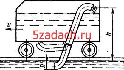 Задача 7-21. Куколевский И.И.Для заполнения водой паровозного тендера на ходу поезда