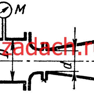 Задача 7-33. Куколевский И.И.Мерное сопло, расходомер Вентури и диафрагма