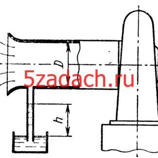Задача 7-34. Куколевский И.И.Воздуходувка засасывает из атмосферы воздух при давлении