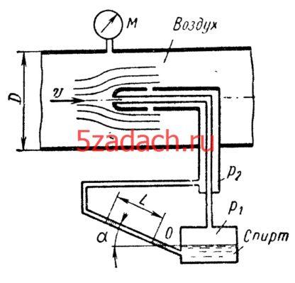 Скоростная трубка, установленная Решение задач по гидравлике Гидравлика Куколевский куколевского