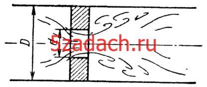 Задача 7-41. Куколевский И.И.В трубопроводе диаметром Решение задач по гидравлике Гидравлика Куколевский куколевского