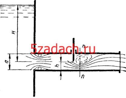 Вода вытекает в атмосферу по короткой трубе квадратного сечения со стороной