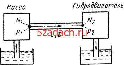 Мощность передается потоком воды от насоса к гидродвигателю Решение задач по гидравлике Гидравлика Куколевский куколевского