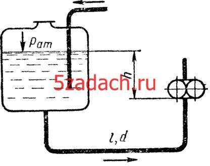 Определить избыточное давление на входе в шестеренчатый Решение задач по гидравлике Гидравлика Куколевский куколевского