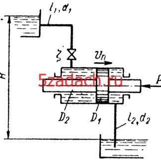 В установке поршневого гидродвигателя располагаемый напор воды Решение задач по гидравлике Гидравлика Куколевский куколевского