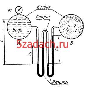 Найти давление p воздуха в резервуаре Решение задач по гидравлике Гидравлика Куколевский куколевского