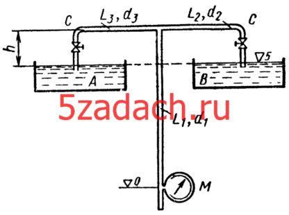 Питание резервуаров A и B с постоянными и одинаковыми Решение задач по гидравлике Гидравлика Куколевский куколевского