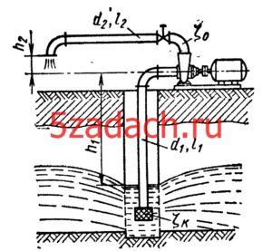 Центробежный насос откачивает грунтовую воду